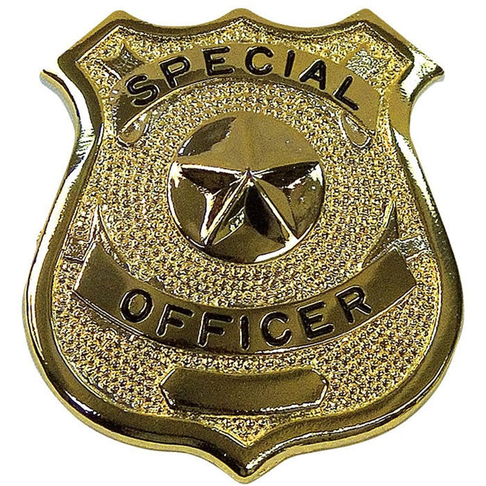 Gold - SPECIAL OFFICER Pin-On Badge