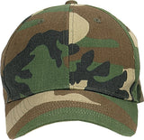 Woodland Camouflage - Kids Military Low Profile Adjustable Baseball Cap
