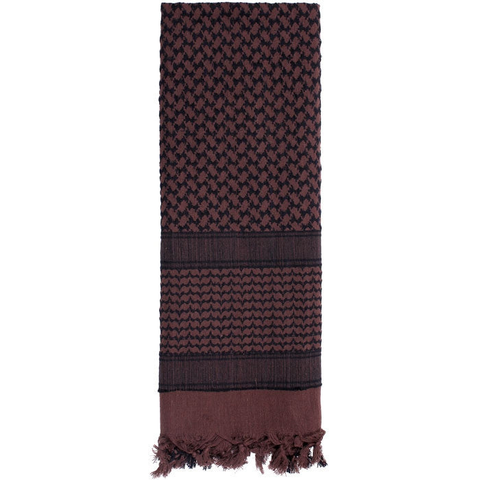 Brown   Black - Shemagh Tactical Desert Scarf