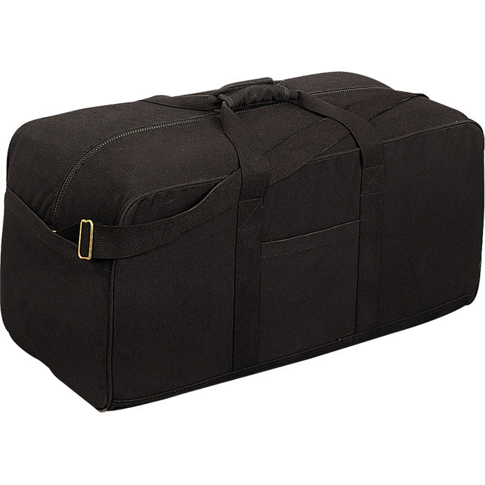 Black - Military Assault Cargo Bag FT820 - Cotton Canvas