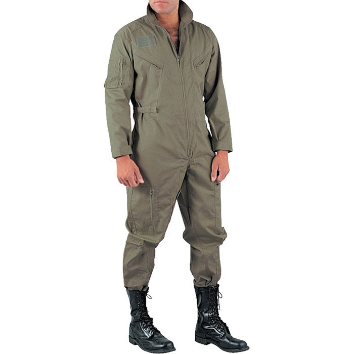 Foliage Green Military Style Flight Coveralls Army