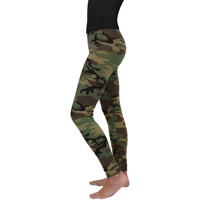 Woodland Camouflage - Womens Leggings