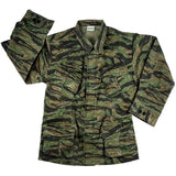 Tiger Stripe Camouflage - Military Vintage Vietnam Fatigue Shirt