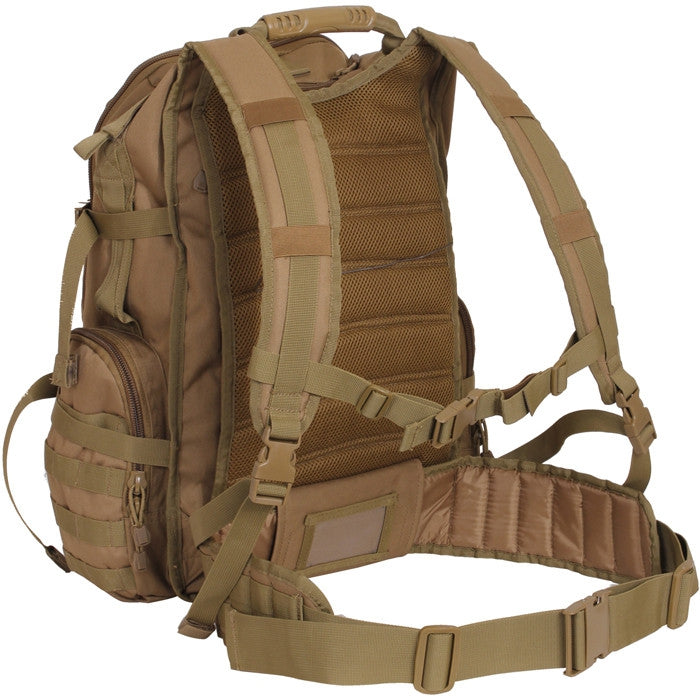 Coyote Brown - Multi-chamber MOLLE Assault Pack