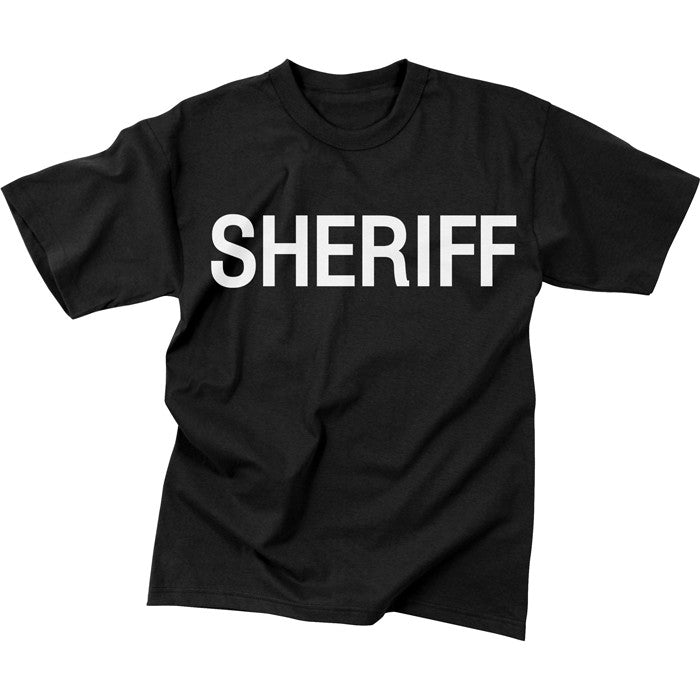 Black - Two Sided Official SHERIFF Raid T-Shirt
