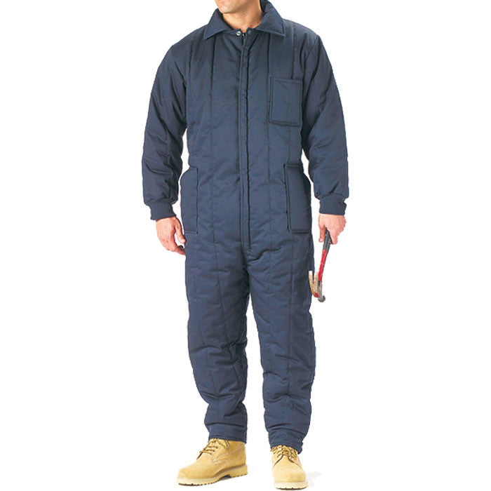 Navy Blue - Outdoor Cold Weather Insulated Coveralls