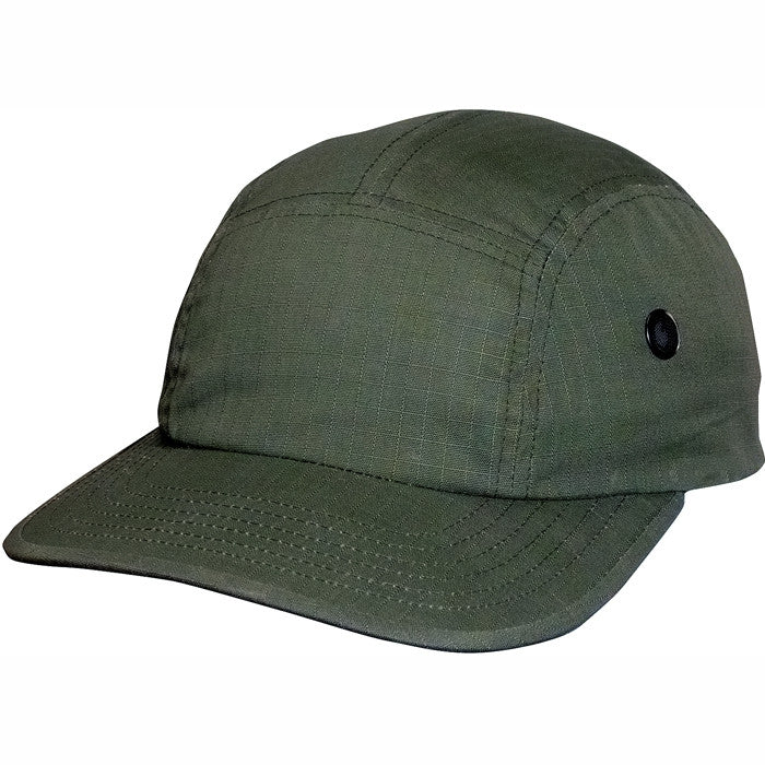 Olive Drab - Military Style Urban Street Cap - Cotton Ripstop