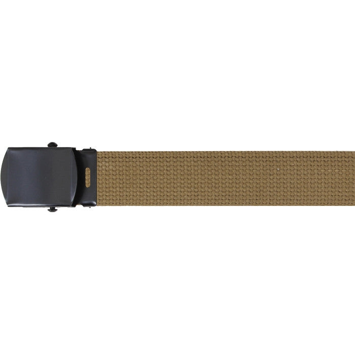 Coyote Brown - Military Web Belt - Black Buckle