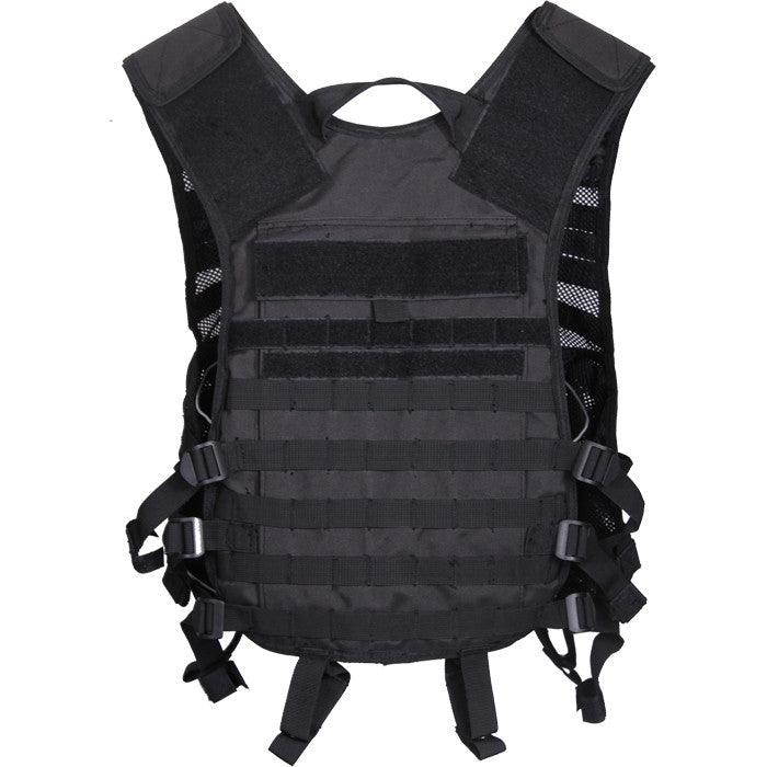 Black - Tactical Lightweight MOLLE Utility Vest