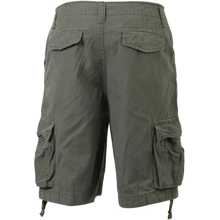 Olive Drab - Military Vintage Infantry Utility Shorts
