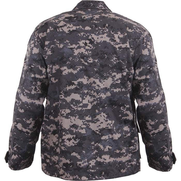 Subdued Urban Digital Camouflage - Military BDU Shirt - Polyester Cotton
