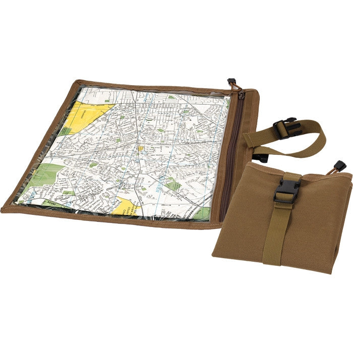 Coyote Brown - Military GI Style Waterproof Map Document Case