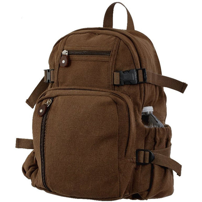 Earth Brown - Military Vintage Mini Backpack