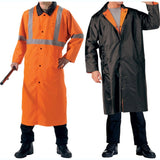 Orange To Black - Reversible Reflective Rain Parka