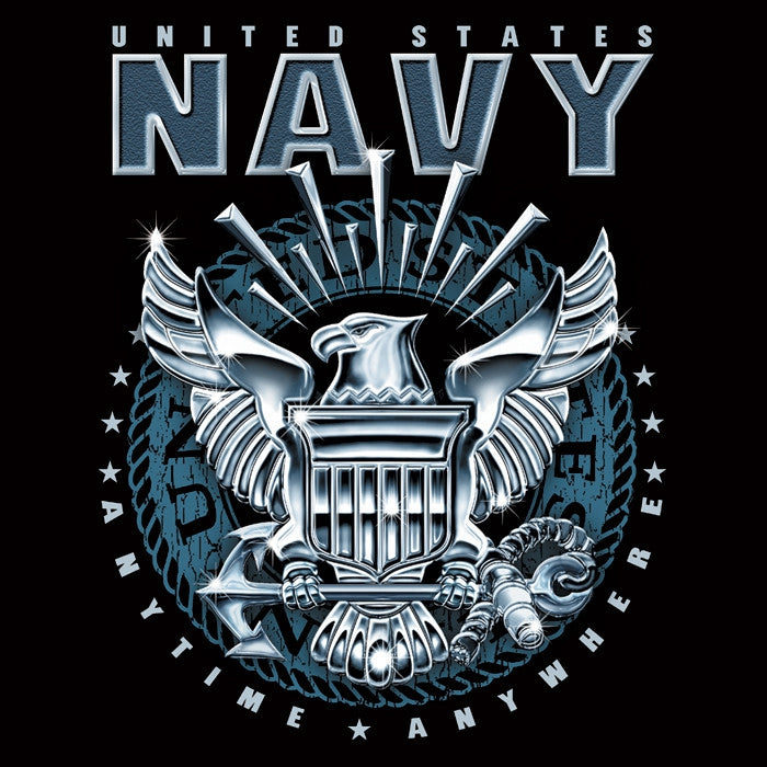 Black United States Navy T Shirt With Us Navy Logo Army Navy Store