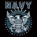Black - UNITED STATES NAVY T-Shirt with US Navy Logo