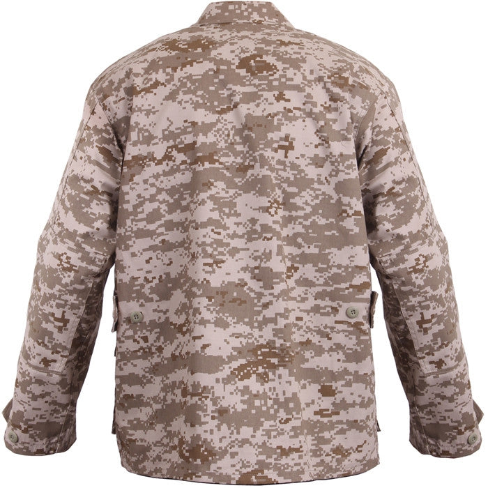 Digital Desert Camouflage - Military BDU Shirt - Cotton Polyester