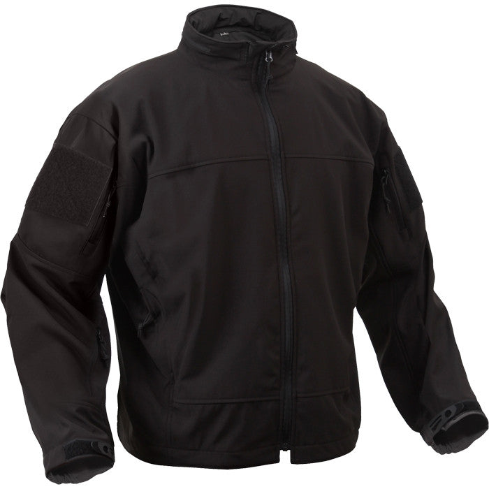Black - Tactical Lightweight Covert Operations Soft Shell Jacket