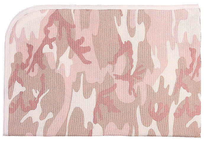 Baby Pink Camouflage - Military Infant Girls Receiving Blanket