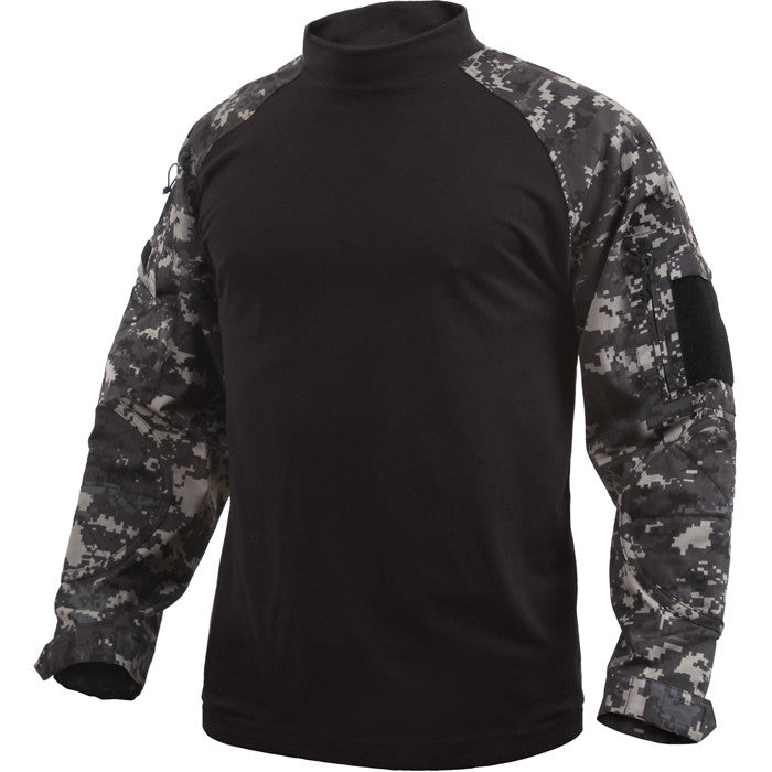 Subdued Urban Digital Camouflage - Military Tactical Lightweight Flame Resistant Combat Shirt