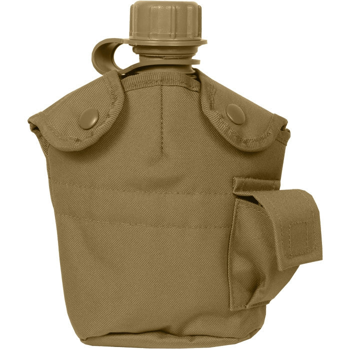 Coyote Brown - Military GI Style 1 Quart Canteen Cover
