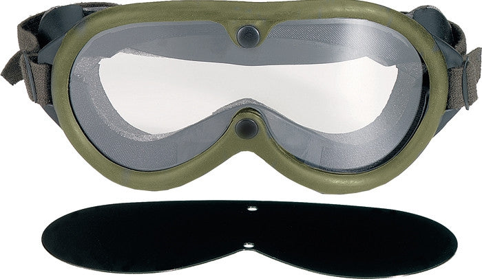 Olive Drab - Military GI Style Sun-Wind-Dust Goggles