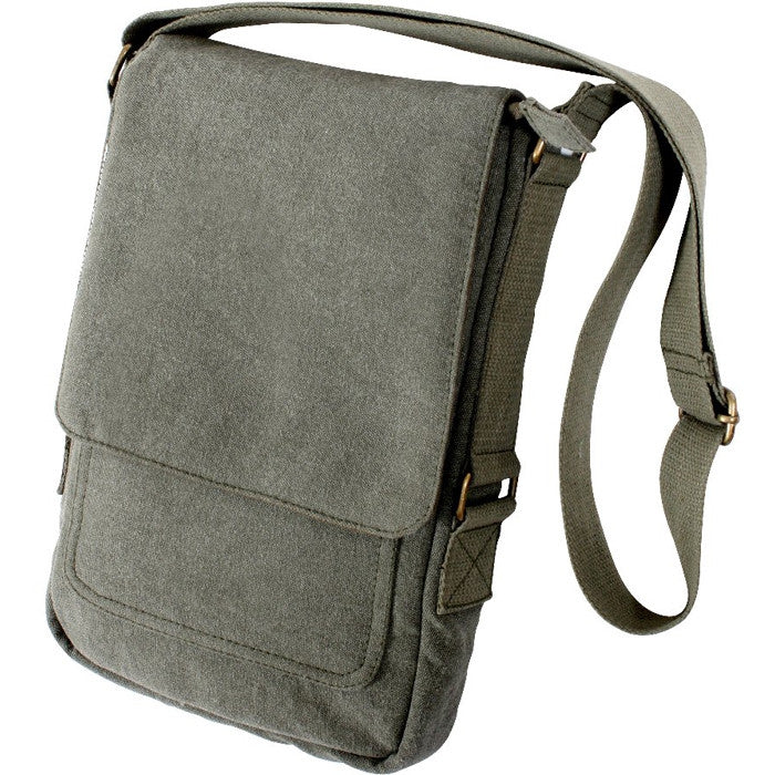 Olive Drab - Vintage Canvas Military Tech Bag
