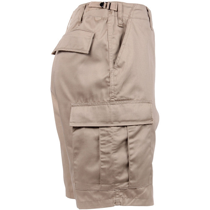 Khaki - Military Cargo BDU Shorts - Polyester Cotton Twill