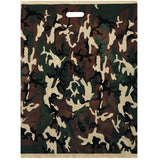 Woodland Camouflage - Large Size Deluxe Shopping Bags 50 Pack