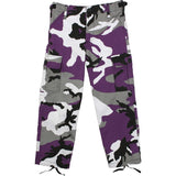 Ultra Violet Camouflage - Kids Military BDU Pants
