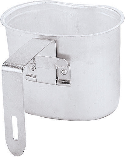 Aluminum Military GI Style 1 Quart Canteen Cup with Handle