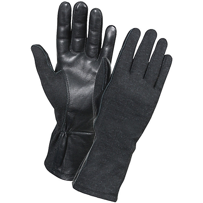 Black - Military Flame and Heat Resistant Tactical Flight Gloves