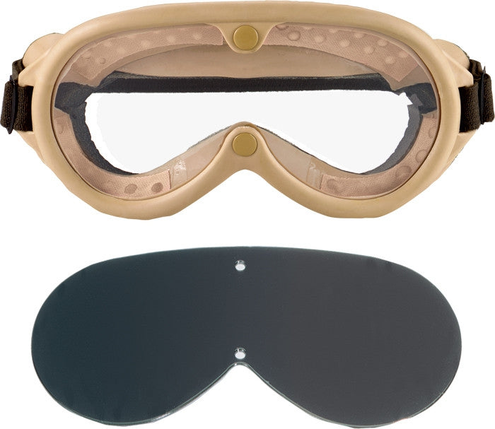Tan - Military GI Style Sun-Wind-Dust Goggles