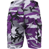 Ultra Violet Camouflage - Military Cargo BDU Shorts - Polyester Cotton Twill