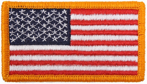 Red White Blue - US Flag Patch with Hook and Loop Closure - USA Made