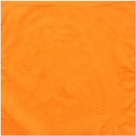 Blaze Orange - Jumbo Solid Color Bandana 27 in. x 27 in.