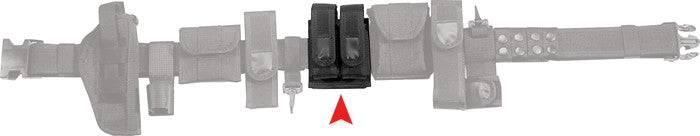 Black - Police Tactical Dual Magazine Pouch