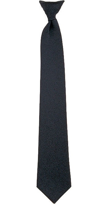Black - Official Police Security Clip-On Necktie