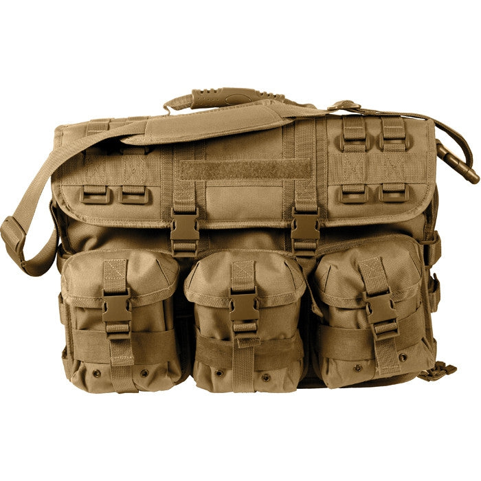Coyote Brown - MOLLE Tactical Computer   Briefcase Bag