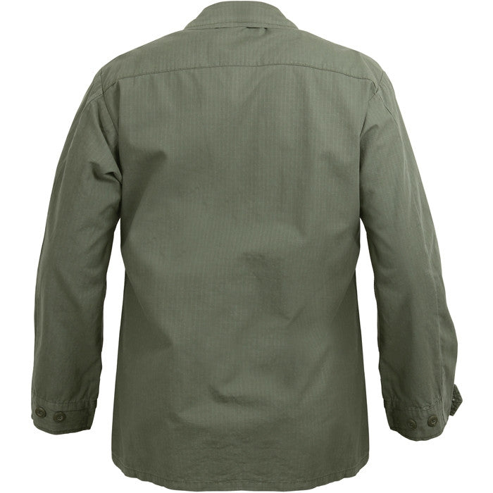 Olive Drab - Military Vintage Vietnam Fatigue Shirt