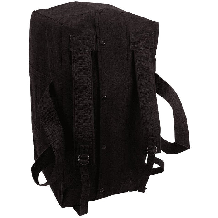 Black - Mossad Tactical Cargo Bag Backpack - Cotton Canvas