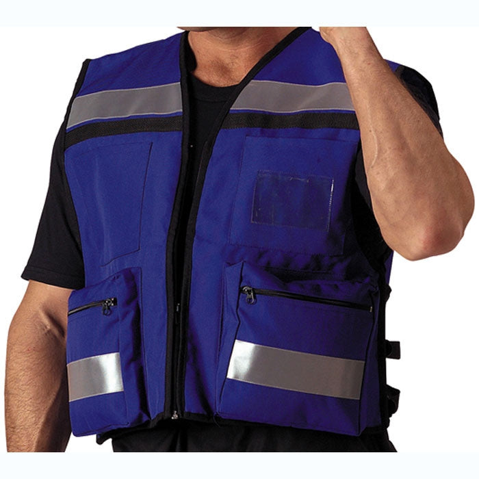 Blue - Public Safety EMS Rescue Safety High-Visibility Vest