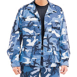 Sky Blue Camouflage - Military BDU Shirt - Polyester Cotton Twill