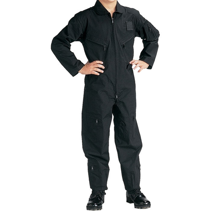 Black - Kids Air Force Style Flight Suit