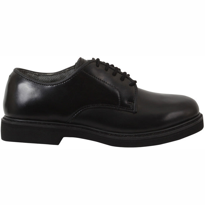 Black - Soft Sole Military Uniform Oxford Shoes