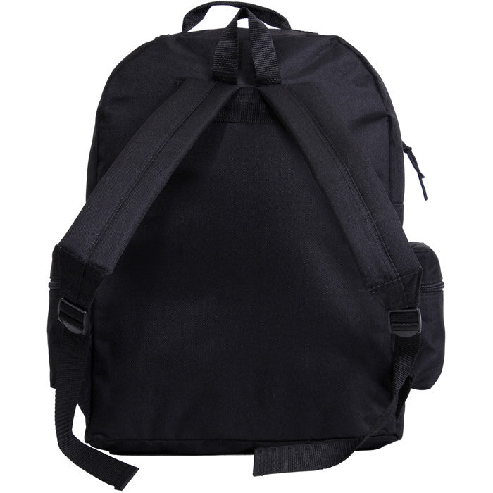 Black - Water Resistant Deluxe Travel Day Pack - Nylon