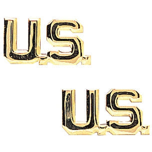 Gold - US Lapel Pin-On Insignia Pair