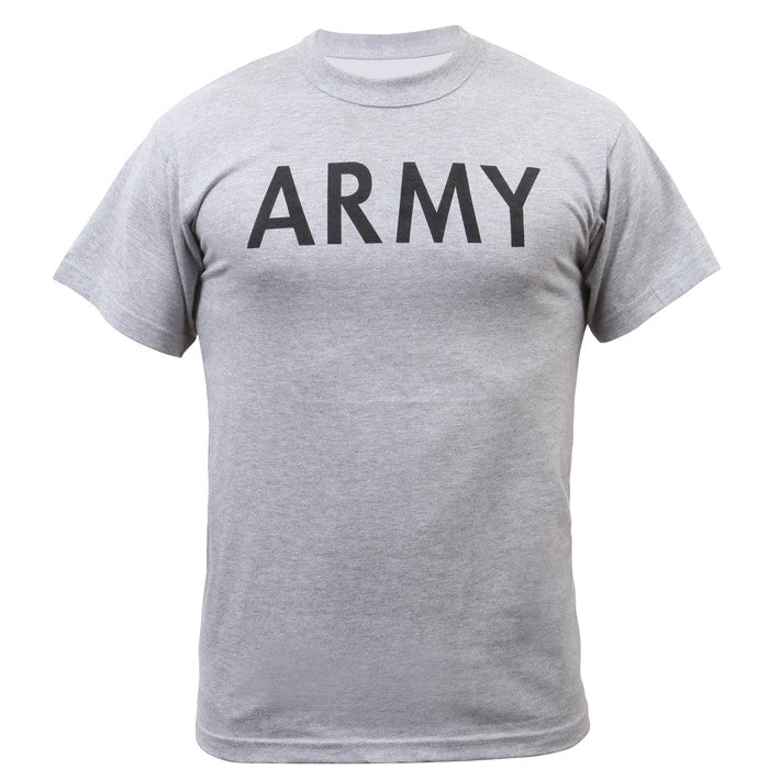 Grey - Kids Army Physical Training T-Shirt
