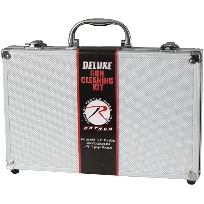 Deluxe Gun Cleaning Kit with Aluminum Carrying Case