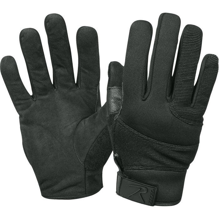 Black - Police Tactical Cut Resistant Street Shield Gloves